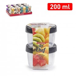 Lot de 2 pots 200ml