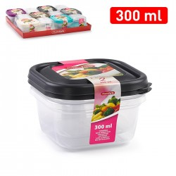 Pack 2 boites 300ml carré...